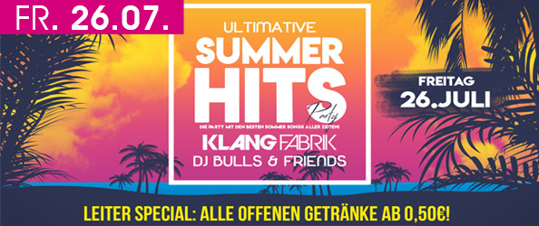 ULTIMATIVE SOMMER HITS PARTY! DIE PARTY MIT DEN BESTEN SOMMER-SONGS
