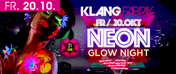 NEON GLOW NIGHT! Die UV-PARTY 2017!